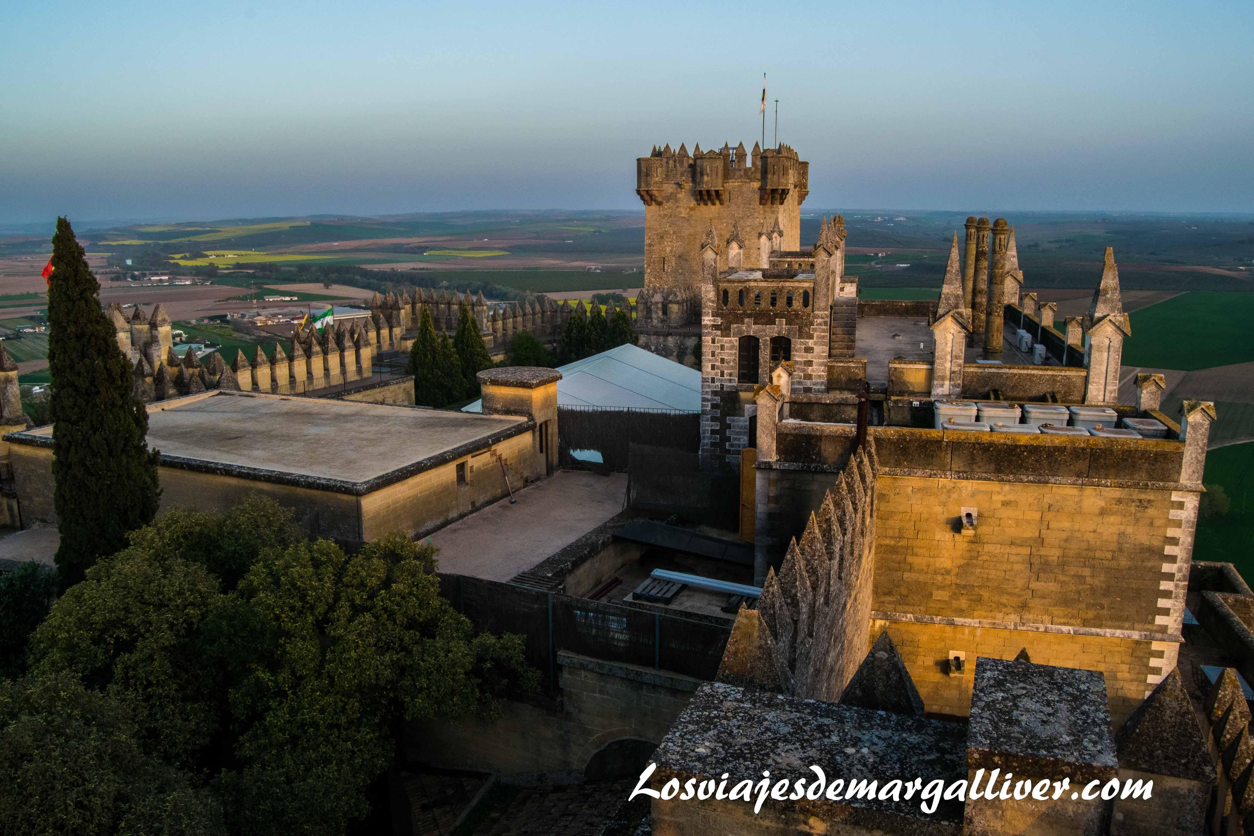 Vistas desde una torre del castillo de almodovar en la ruta de Juego de Tronos - Los viajes de margalliver